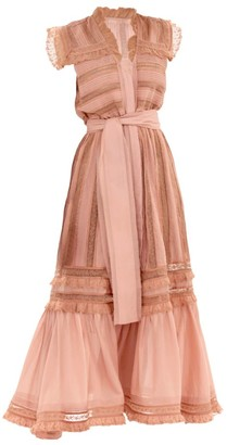 Alexis Palmer Lace Trim Maxi Dress