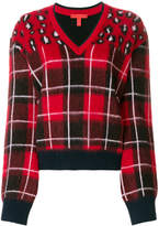 Tommy Hilfiger tartan V-neck sweater