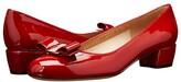 Salvatore Ferragamo Vara Bow Pump (Oxford Blue Patent) Women's 1-2 inch heel Shoes