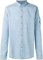 Balmain stone encrusted casual shirt - men - Cotton/Brass/Resin/Polyester - 39