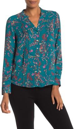 Nanette Nanette Lepore Long Sleeve Mandarin Collar Blouse