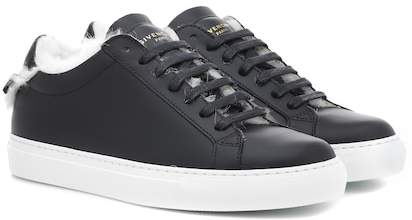 Givenchy Urban Street leather and fur sneakers