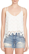 1 STATE 1.State Strappy Scalloped Tank