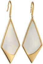 Lana 14k Yellow Gold Satin Kite Mother-of-Pearl Drop Earrings