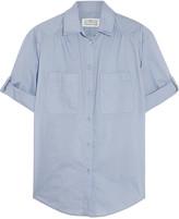 Maison Margiela Pinstriped cotton-blend poplin shirt