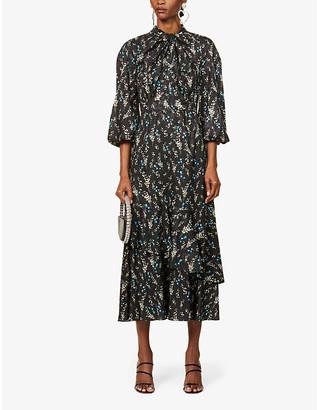 Erdem Verona floral-print woven maxi dress