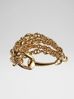 18K Yellow Gold Multi-Chain Bracelet