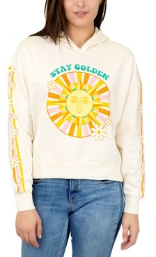 Rebellious One Juniors' Stay Golden Graphic Hoodie Sweatshirt