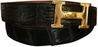 Hermes H Green Crocodile Belts