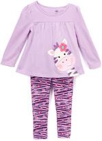 Kids Headquarters Lavender Giraffe Tunic & Leggings - Girls