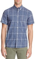 Saturdays Nyc Esquina Reverse Print Check Slim Fit Button Down Shirt