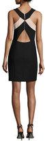 Elizabeth and James Elliot Sleeveless Ponte Mini Dress, Black