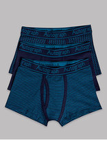 Autograph 3 Pack Cotton Trunks with Stretch (6-16 Years)