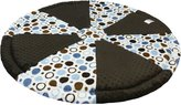 Luna Lullaby Soothe-Move Tummy Time Mat, Polka Blue Dot