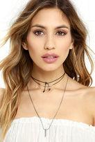 LuLu*s Urban Renewal Cream and Gold Layered Choker Necklace