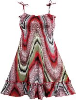 Sunny Fashion HM62 Girls Dress Smocked Halter Paisley Red