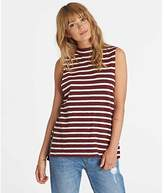 Billabong Junior's Your Eyes Striped Mock Neck Muscle Tee