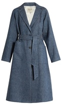 Sea Linen-blend denim overcoat