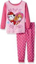 Nickelodeon Girls' Paw Patrol 2-Piece Cotton Pajama Set