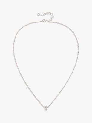 Susan Caplan Vintage Nina Ricci Rhodium Plated Swarovski Crystal Pendant Necklace, Silver