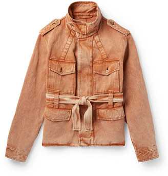Rochas Belted Cotton And Linen-Blend Jacket