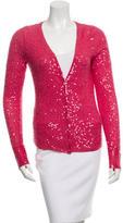 Donna Karan Sequined Cashmere & Silk-Blend Cardigan