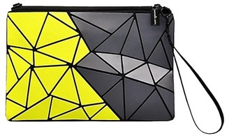 Patrizia Luca Oversized Geometric Two-Toned Clutch