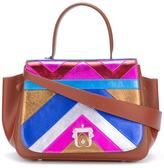 Paula Cademartori chevron print shoulder bag - women - Calf Leather - One Size