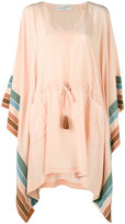 Antonia Zander stripe panel kaftan - women - Silk - S