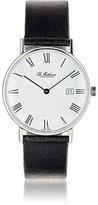 Ole Mathiesen Men's Round-Faced Watch-BLACK, WHITE, NO COLOR
