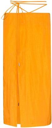 Supriya Lele Tie-Waist Midi Skirt