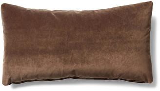 One Kings Lane Ada Long Lumbar Pillow - Cafe Velvet - 12x23