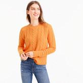 J.Crew Italian cashmere tie-back cable sweater