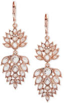 lonna & lilly Rose Gold-Tone Crystal Cluster Drop Earrings