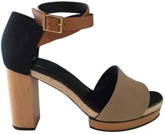 Pierre Hardy Khaki Cloth Sandals