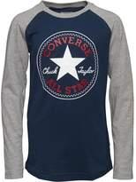 Converse Boys Chuck Patch Raglan T-Shirt Navy