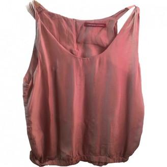Comptoir des Cotonniers Pink Silk Top for Women