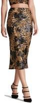 Dress the Population Women's 'Sasha' Two-Tone Sequin Midi Skirt