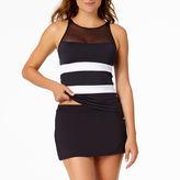 Liz Claiborne Mesh Tankini Swimsuit Top