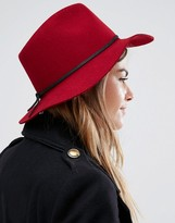 Brixton Wesley Fedora in Red