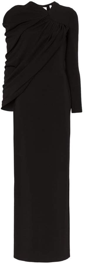 Burberry Draped maxi-gown