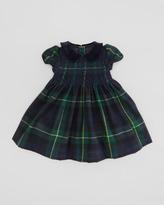 Ralph Lauren Tartan-Plaid Party Dress, Green/Navy, 9-24 Months