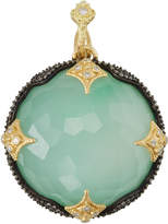 Armenta Old World 18k Round Chrysoprase Doublet Enhancer w/ White Diamonds