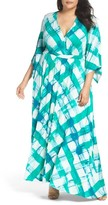 Melissa McCarthy Plus Size Women's Print Empire Maxi Dress