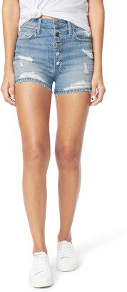 Joe's Jeans The Kinsley High Waist Ripped Cutoff Denim Shorts