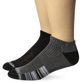 Reebok Men's 6 Pack Performance Striped Low Cut Sock Black