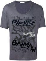 Pierre Balmain graffiti logo print T-shirt