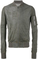Rick Owens classic bomber jacket - men - Cotton/Lamb Skin/Cupro/Virgin Wool - 46