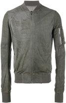 Rick Owens classic bomber jacket - men - Cotton/Lamb Skin/Cupro/Virgin Wool - 48