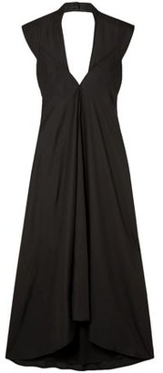 Victoria Beckham Open-back Satin Midi Dress